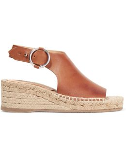 Calla Leather Espadrille Wedge Sandals