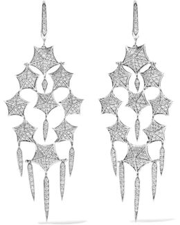 Stargazer 18-karat White Gold Diamond Earrings
