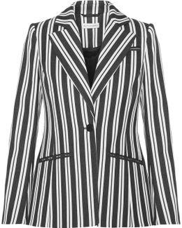 Acacia Striped Wool-blend Blazer