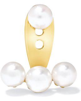 18-karat Gold Pearl Earring