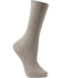 Ribbed Organic Cotton Socks