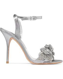 Lilico Embellished Lamé Sandals