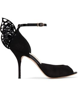 Flutura Patent Leather-trimmed Suede Sandals