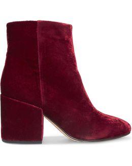 Taye Velvet Ankle Boots