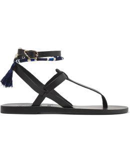 + Lemlem Estia Tasseled Leather Sandals