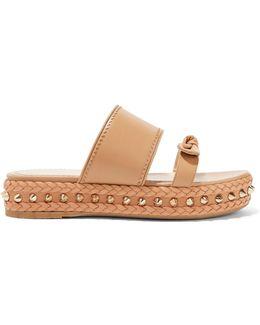 Hackney Studded Leather Espadrille Sandals