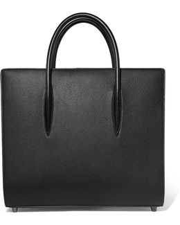 Paloma Large Textured And Patent-leather Tote