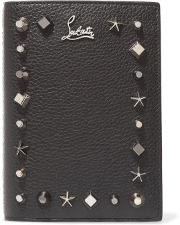 Loubipass Embellished Textured-leather Passport Cover