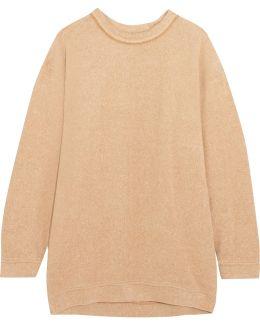 Oversized Cotton-blend Fleece Sweatshirt