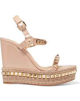 Cataclou 120 Studded Patent-leather Wedge Sandals