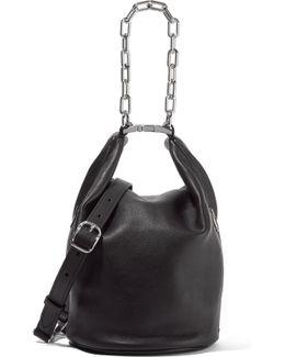 Attica Dry Chain-embellished Leather Shoulder Bag