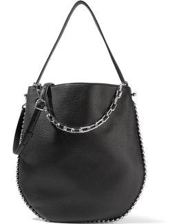 Roxy Studded Textured-leather Shoulder Bag