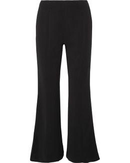 Carel Cropped Stretch-jersey Flared Pants