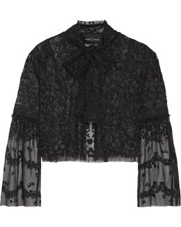 Primrose Embroidered Tulle Jacket