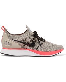 Air Zoom Mariah Leather-trimmed Flyknit Sneakers