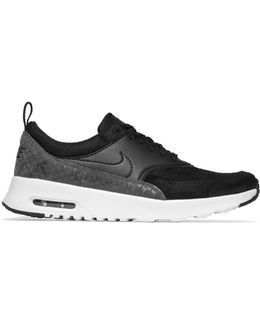 Air Max Thea Suede, Smooth And Snake-effect Leather Sneakers