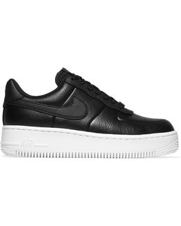 Air Force 1 Upstep Textured-leather Sneakers