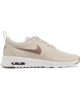 Air Max Thea Rubber, Stretch-mesh And Croc-effect Leather Sneakers