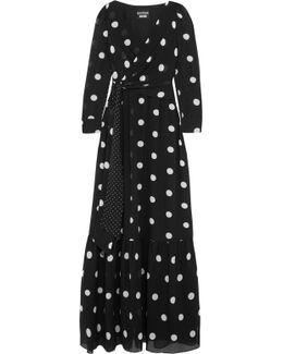 Polka-dot Silk-chiffon Maxi Dress