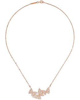 Fly By Night 18-karat Rose Gold Diamond Necklace