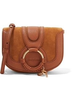 Hana Mini Textured-leather And Suede Shoulder Bag