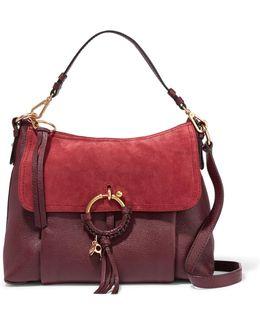 Joan Medium Suede-paneled Leather Shoulder Bag