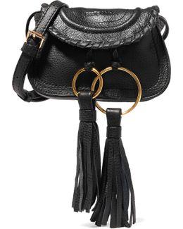 Polly Mini Tasseled Textured-leather Shoulder Bag