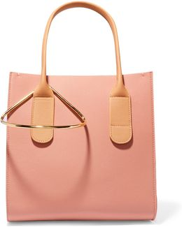 Weekend Mini Color-block Textured-leather Tote
