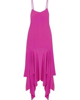 Wyatt Asymmetric Crepe Maxi Dress