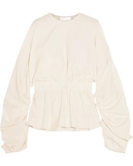 Macy Ruched Crepe Top