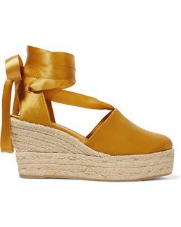 Elisa Satin Espadrille Wedge Sandals