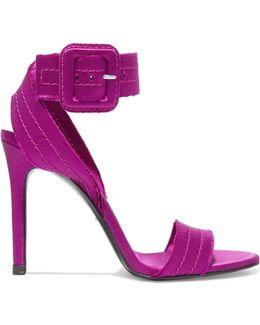 Catalina Frayed Satin Sandals