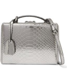 Grace Small Metallic Python Shoulder Bag