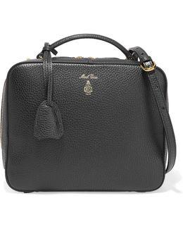 Laura Textured-leather Shoulder Bag