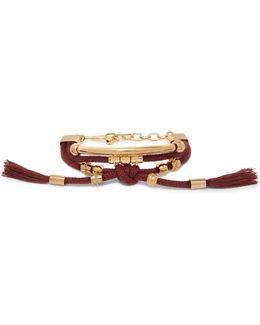 Otis Gold-tone Cord Bracelet