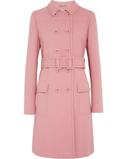 Wool-crepe Trench Coat