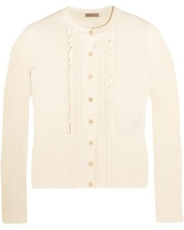 Ruffled Cotton-blend Cardigan