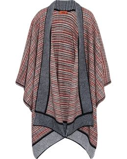 Crochet-knit Wool-blend Wrap