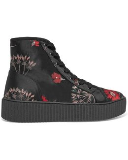 Floral-jacquard High-top Sneakers