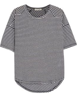 Valley Striped Linen And Modal-blend T-shirt
