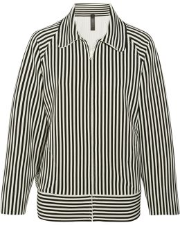 Striped Stretch-jersey Jacket