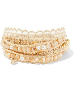 Gold-plated Multi-stone Wrap Bracelet