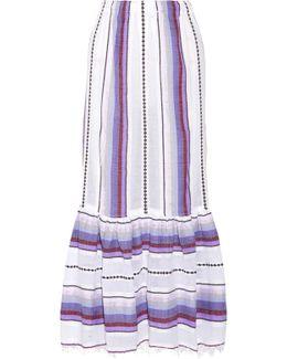 Adia Convertible Striped Cotton-blend Gauze Skirt