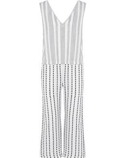 Yeshi Striped Cotton-blend Gauze Jumpsuit