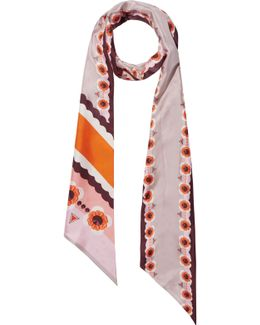 Reversible Printed Silk-twill Scarf
