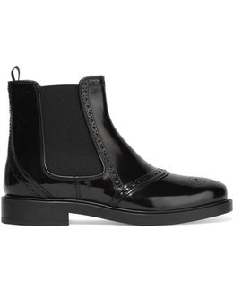 Glossed-leather Chelsea Boots
