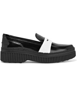 Two-tone Patent-leather Loafers