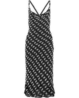Beaded Silk-chiffon Midi Dress