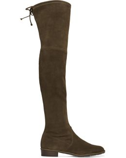 Lowland Stretch-suede Over-the-knee Boots