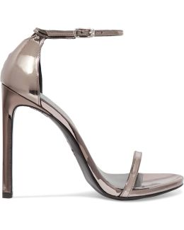 Nudist Metallic Leather Sandals